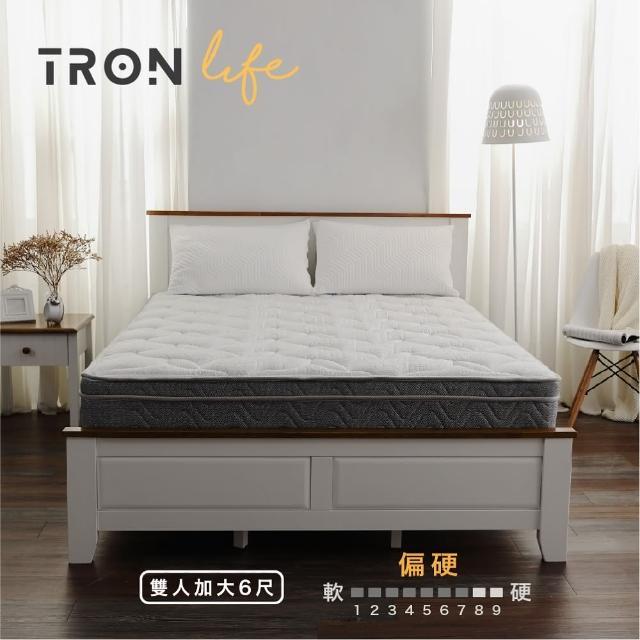 【Tronlife 好床生活】G04恆溫四線乳膠硬式獨立筒床|雙人特大7尺(竹炭恆溫表布)