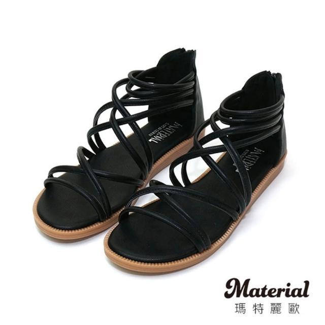 【MATERIAL】涼鞋 細帶交叉環繞羅馬涼鞋 MA女鞋 T1012(涼鞋)