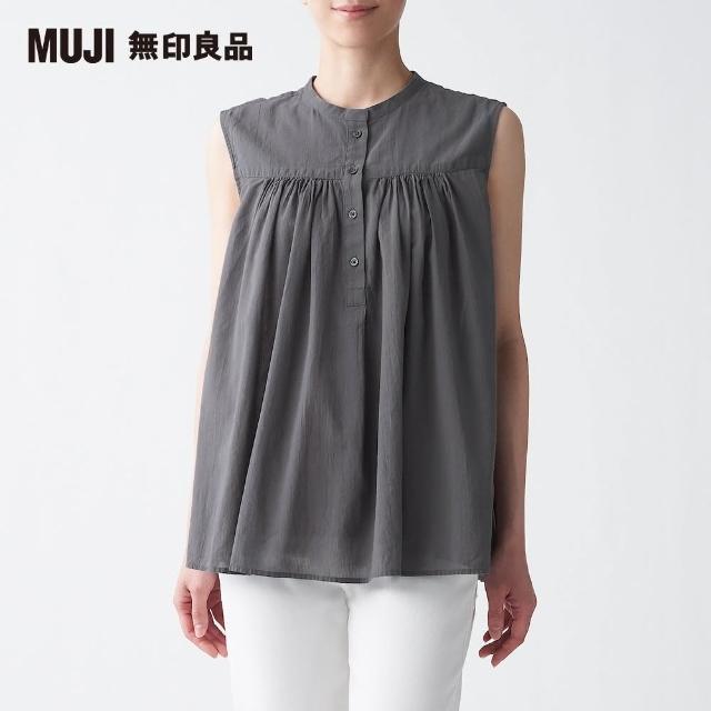 【MUJI 無印良品】女有機棉水洗強撚無袖套衫(共4色)