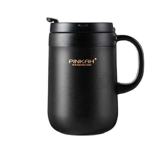 【PUSH!】辦公室保溫咖啡杯冷泡茶杯沖泡杯304不銹鋼保溫杯帶不碰鼻蓋(460ML杯子 E106)