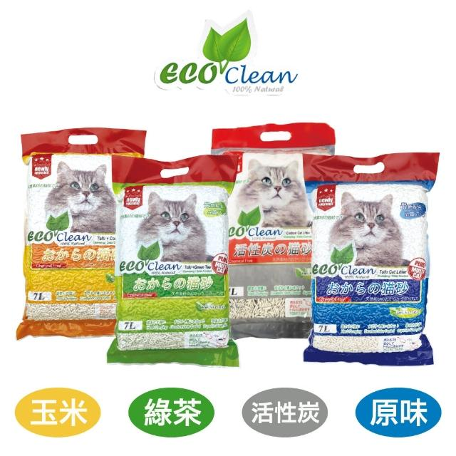 【ECO艾可】豆腐貓砂7L-6入 原味/綠茶/玉米/活性炭(貓砂)