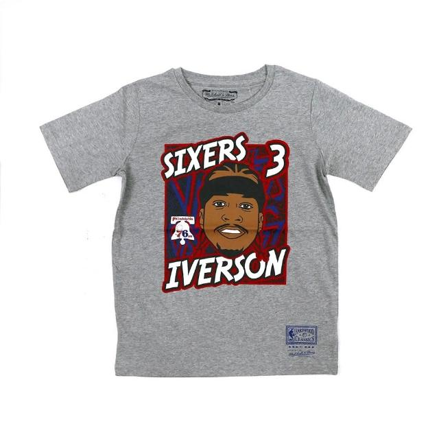 【NBA】M&N NBA 青少年 球員肖像 短袖上衣 76人 #3 Allen Iverson(WN2B7BME8-76RIA)