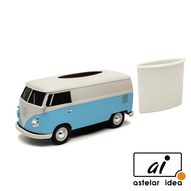 【astelar idea】WELLY 復古經典雙色Volkswagen T1汽車面紙盒 Tissue Box(藍)