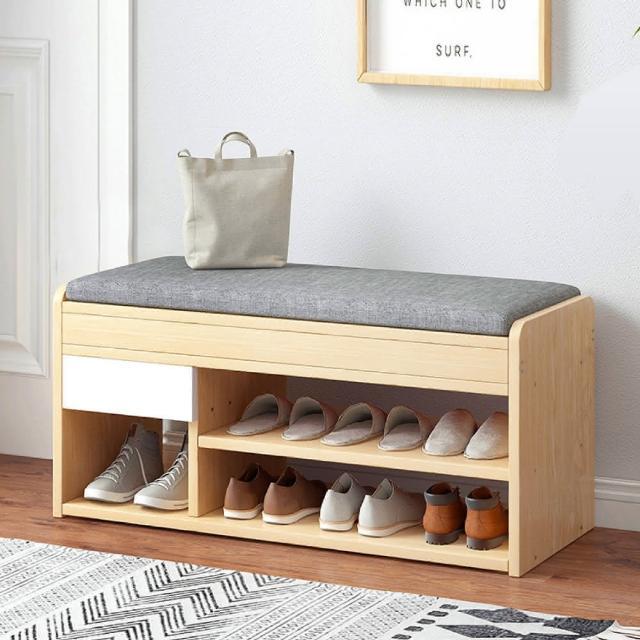【慢慢家居】多功能掀蓋儲物鞋櫃穿鞋椅(W80*D30*H42cm)
