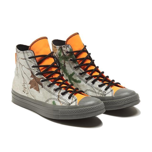 【CONVERSE】CHUCK 70 GTX HI 高筒 防撥水 樹林 休閒鞋 男女 白橘(169365C)