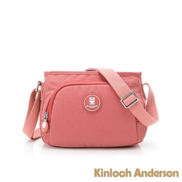 【Kinloch Anderson】FRANCIS 拉鍊斜側包(桃紅色)