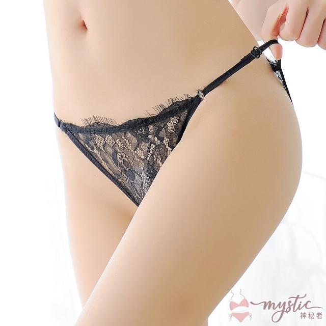 【mystic 神秘者】女內褲 三角 蕾絲透膚低腰細帶三角內褲(超值5入組)
