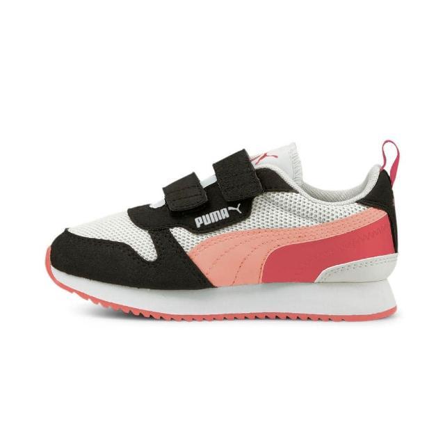 【PUMA】慢跑鞋 中童 童鞋 兒童 運動鞋 魔鬼氈 黑白粉 37361715