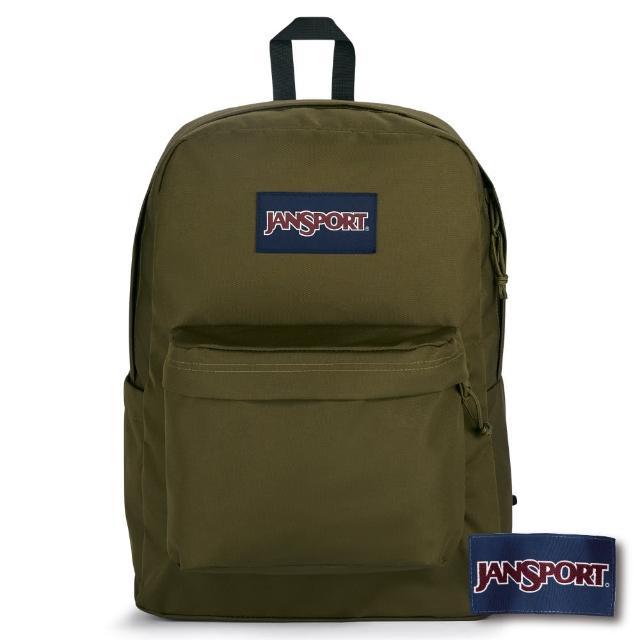 【JANSPORT】SUPERBREAK PLUS 系列後背包(軍綠)