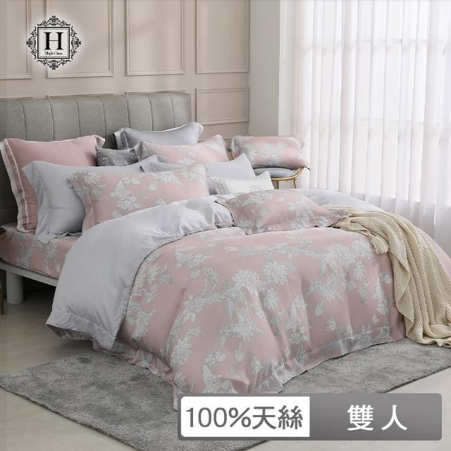 【HOYACASA】80支萊賽爾天絲被套床包六件組-奧麗芙(雙人)