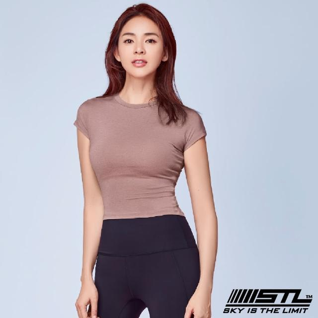 【STL】yoga 本質伸展短版 Essence Volume Crop 韓國瑜伽 運動機能合身短袖上衣(乾燥玫瑰DryRose)
