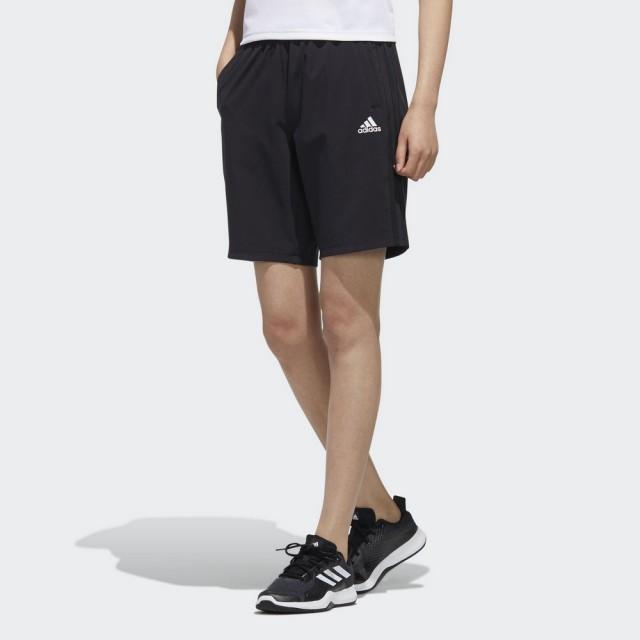 【adidas 愛迪達】3-STRIPES 女 運動短褲 黑色(FT2884)
