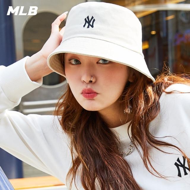 【MLB】漁夫帽 基本款 素色 紐約洋基隊(3AHT7701N-50BGL)