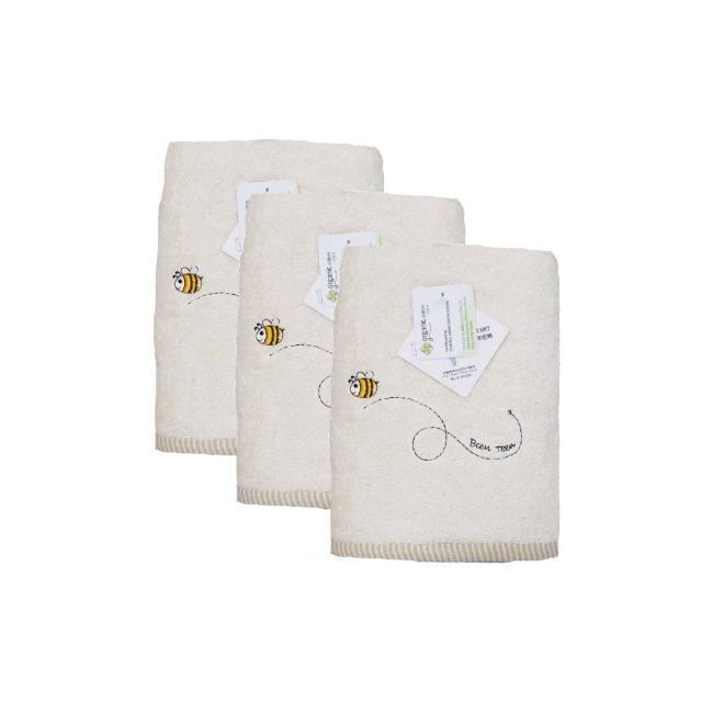 【台灣興隆毛巾】繡蜜蜂有機棉浴巾-2入(浴巾)