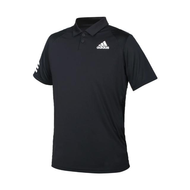 【adidas 愛迪達】男短袖POLO衫-亞規 吸濕排汗 慢跑 路跑 運動 上衣 愛迪達 黑白(GL5421)