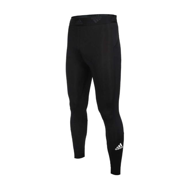 【adidas 愛迪達】男緊身長褲-亞規 緊身褲 運動 慢跑 路跑 束褲 愛迪達 黑白(GM5036)