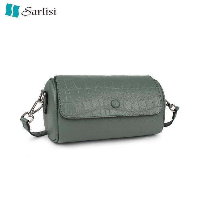 【Sarlisi】包包女夏新款枕頭包牛皮女包大容量單肩斜背真皮波士頓小包