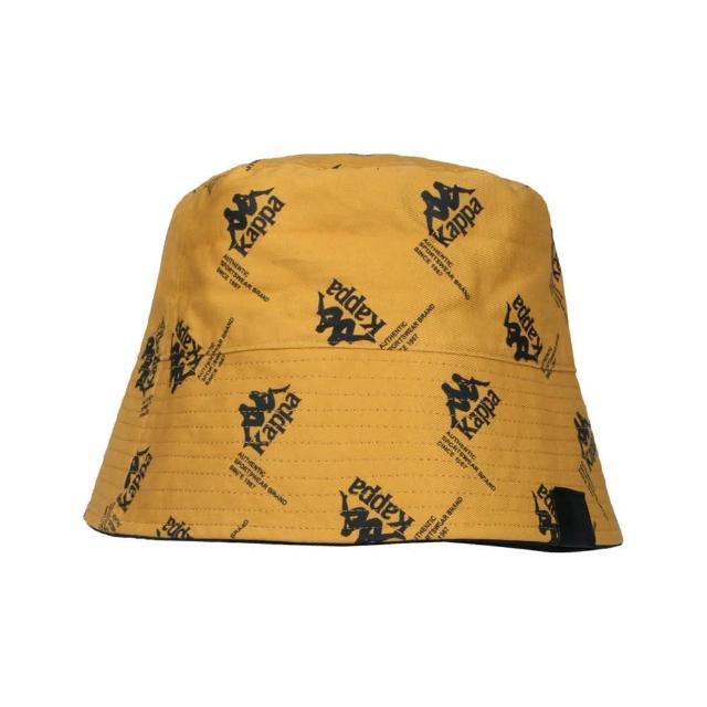 【KAPPA】漁夫帽-純棉 雙面戴 防曬 遮陽 運動 帽子 棕黑(321938W-005)