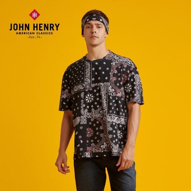 【JOHN HENRY】經典圖騰短袖T恤