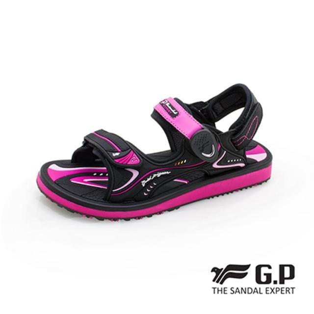【G.P】女 高彈力舒適兩用涼拖鞋 女鞋(黑桃)