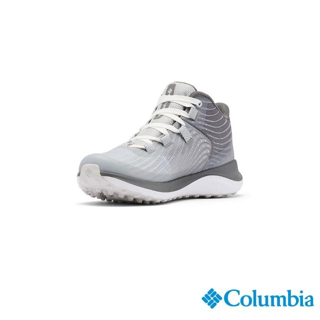【Columbia 哥倫比亞】女款- Outdry防水機能健走鞋-淺灰(UBL01610LY / 越野.健走.防水)
