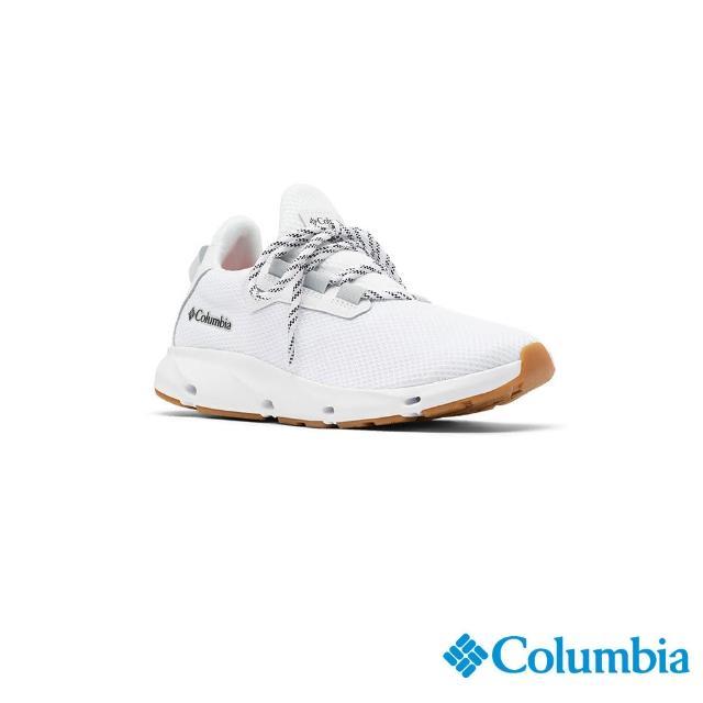 【Columbia 哥倫比亞】女款- 輕量透氣休閒鞋-淺灰(UBL01590LY / 輕量.運動.健走)