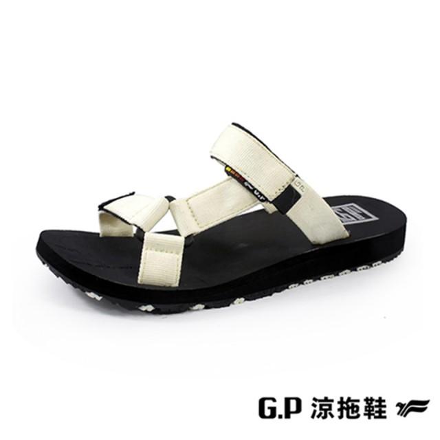 【G.P】女 Charm 織帶拖鞋 女鞋(杏)