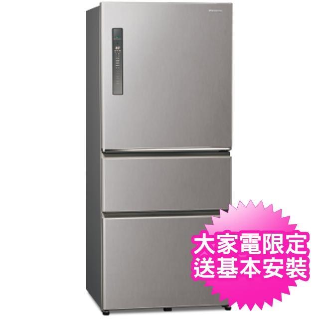 【Panasonic 國際牌】送炒鍋※能源效率一級610公升三門冰箱(NRC611XV/NR-C611XV)
