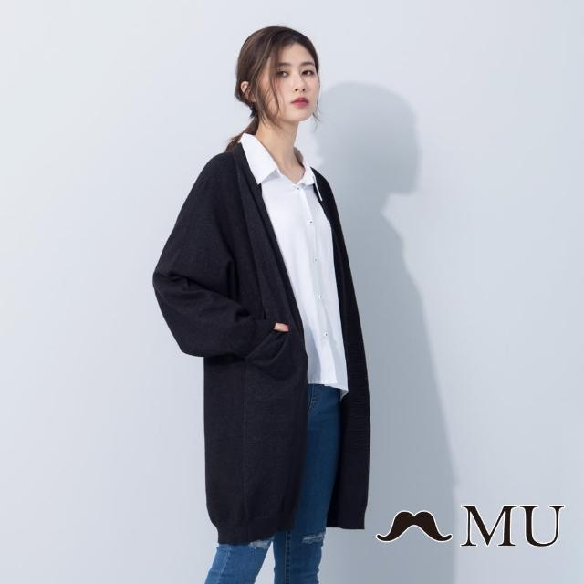 【maru.a】MU 素色百搭立體圖案外套(共二色)