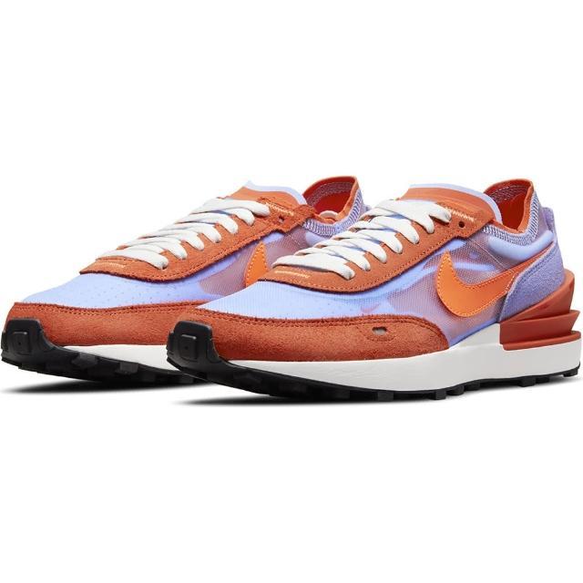 【NIKE 耐吉】運動鞋 女鞋 慢跑鞋 緩震 W WAFFLE ONE 橘紫藍 DC2533-800