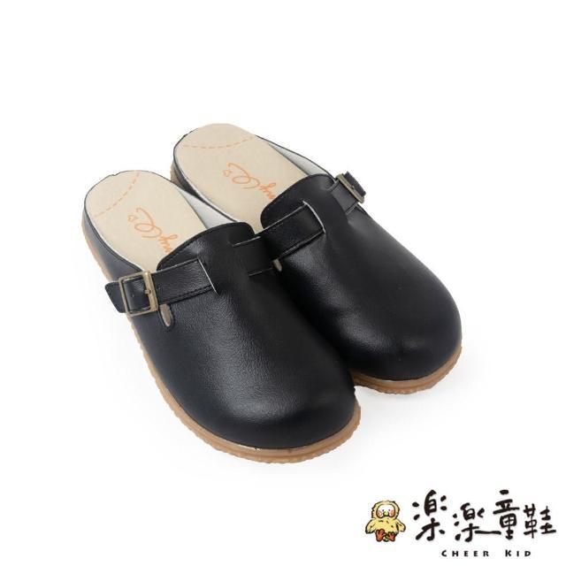 【樂樂童鞋】台灣製質感單扣休閒鞋-黑色-C078(現貨 台灣製 女鞋 休閒鞋 女童鞋)