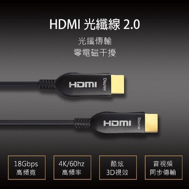 【Active Optica Cable】AOC 4k光纖 2.0版高清支援3D傳輸(25米 HDMI線)
