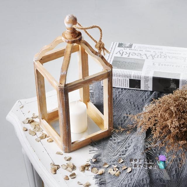 【Meric Garden】北歐復古實木燭台/家居裝飾擺設