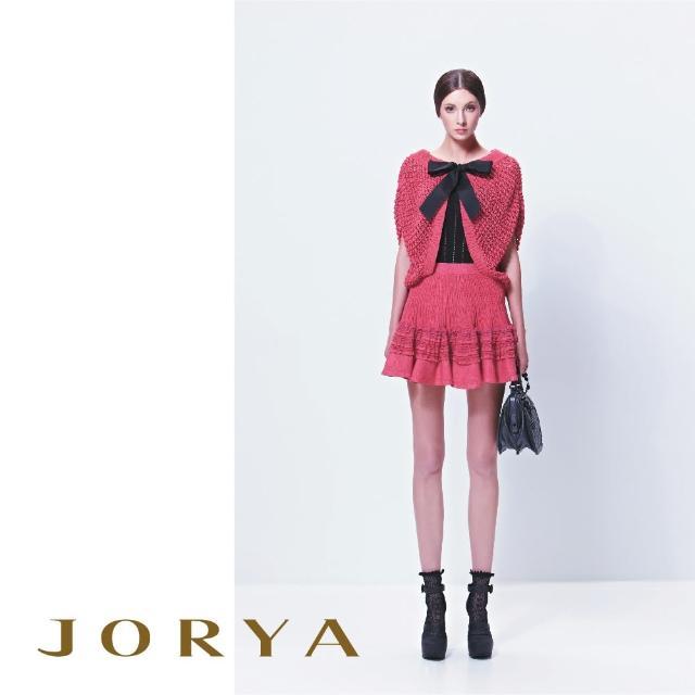 【JORYA】13TH004蛋糕蕾絲捲捲花邊針織桑蠶絲短裙