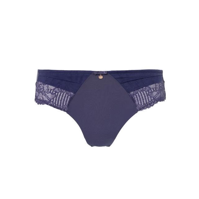 【Triumph 黛安芬】FLORALE熱艷麗菊系列 超細纖維蕾絲無痕中腰三角內褲 M-EEL(知性紫)