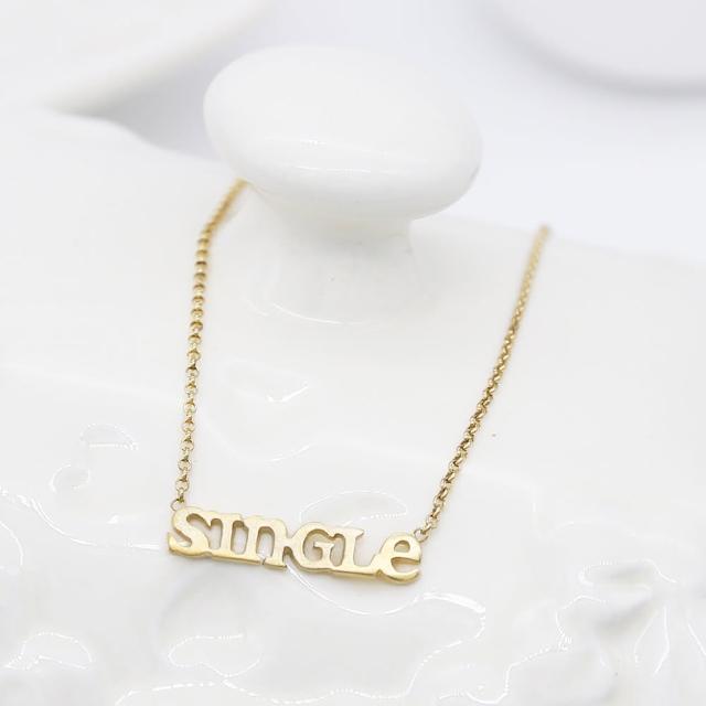 【Dogeared】Single字母金項鍊