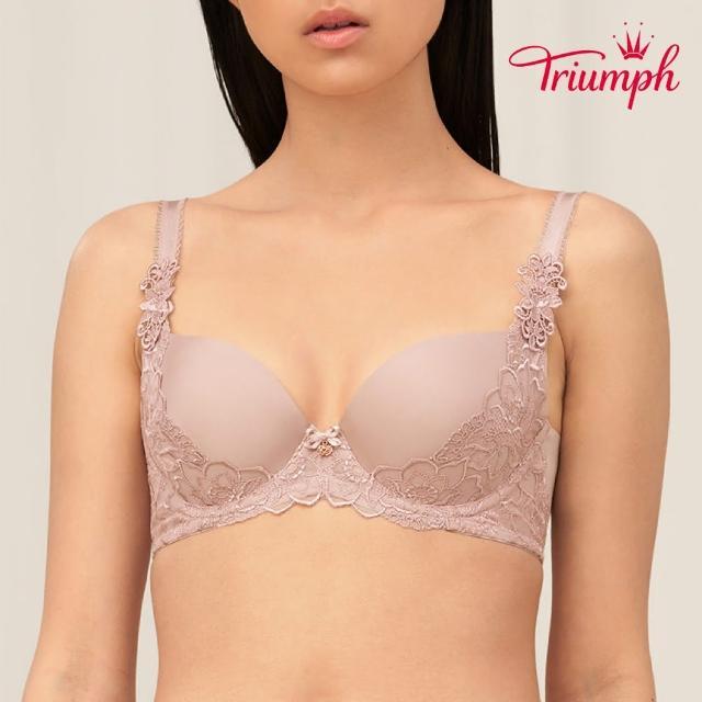 【Triumph 黛安芬】FLORALE璀璨薔薇系列 無痕包覆 B-C罩杯內衣(質感膚)
