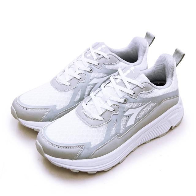 【DIADORA】男 迪亞多那 專業厚底避震慢跑鞋 POWER FOAM系列(灰白 73112)
