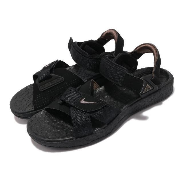 【NIKE 耐吉】涼鞋 ACG Air Deschutz 男女鞋 戶外 夏日穿搭 魔鬼氈 潮流 黑 灰(DC9093-001)