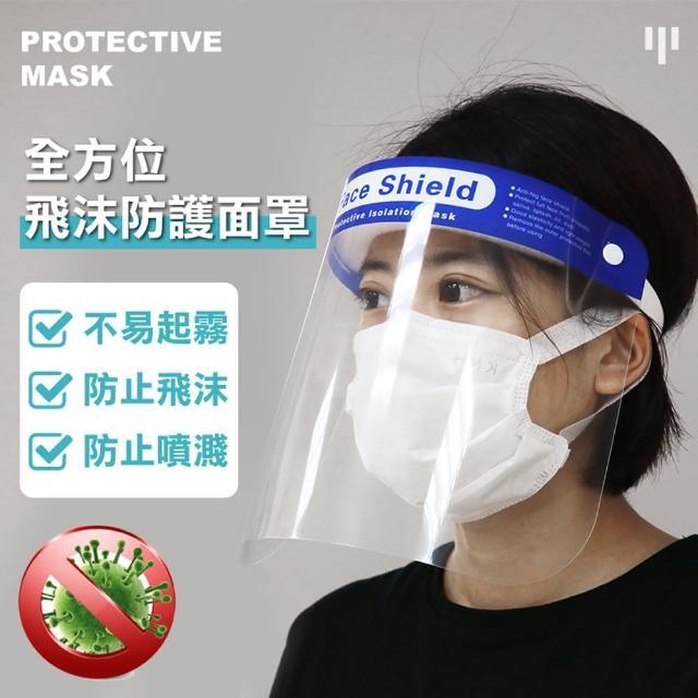 【ONE HOUSE】加大鏡面防疫防塵面罩(2入)
