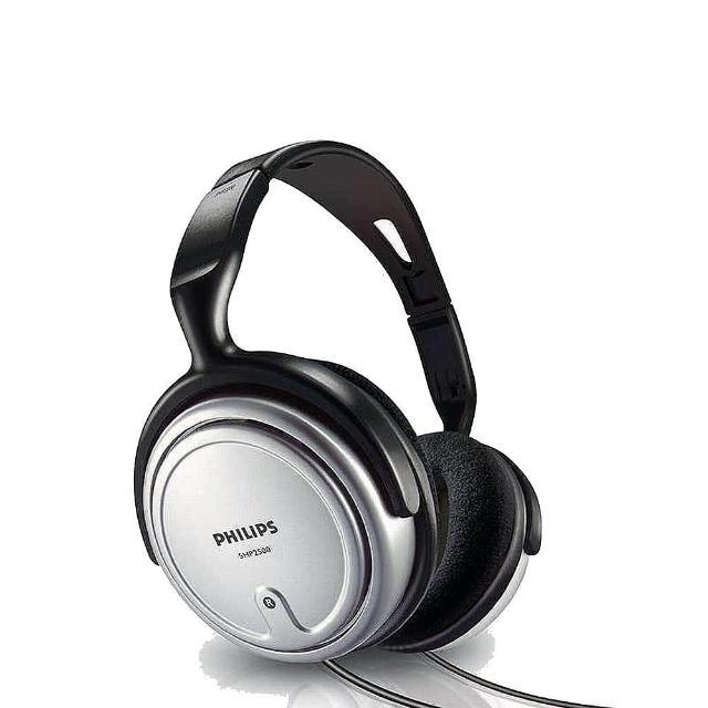 【Philips 飛利浦】視聽用可調音頭戴式耳機(SHP2500)