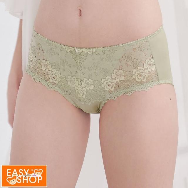 【EASY SHOP】Beauty bra舒適包臀中腰平口內褲(抹茶歐蕾)
