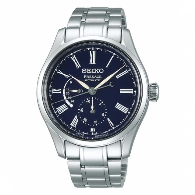 【SEIKO 精工】琺瑯工藝機械腕錶/動力儲存顯示/41mm/白(SPB091J1)
