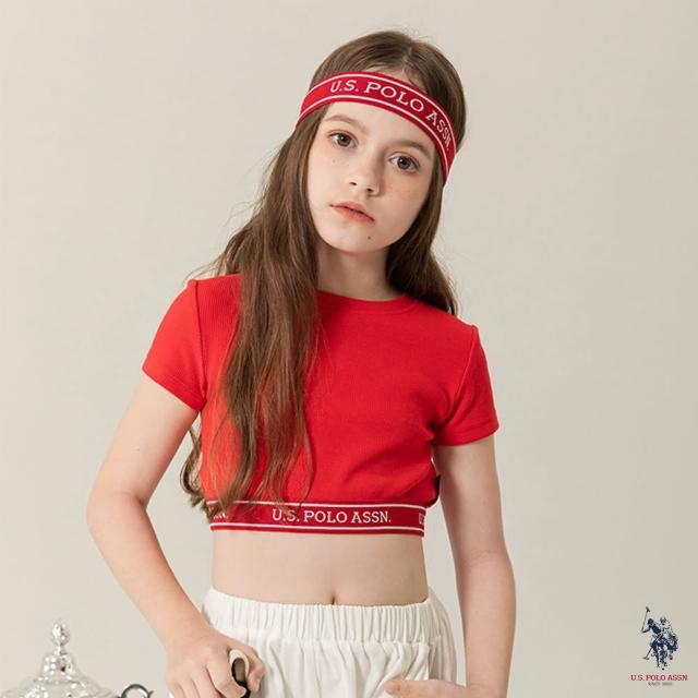 【U.S. POLO ASSN.】女童LOGO短T恤-紅色(熱銷經典)