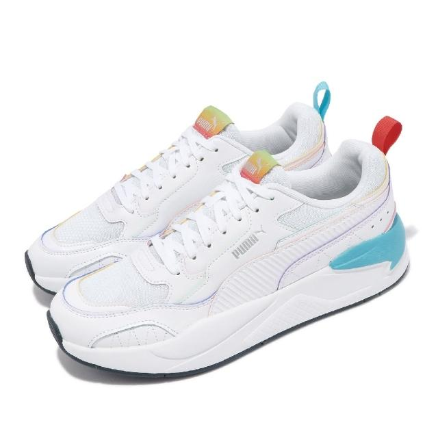 【PUMA】休閒鞋 X-Ray2 Square 男女鞋 Rainbow 情侶鞋穿搭 彩虹 白 彩(36885601)
