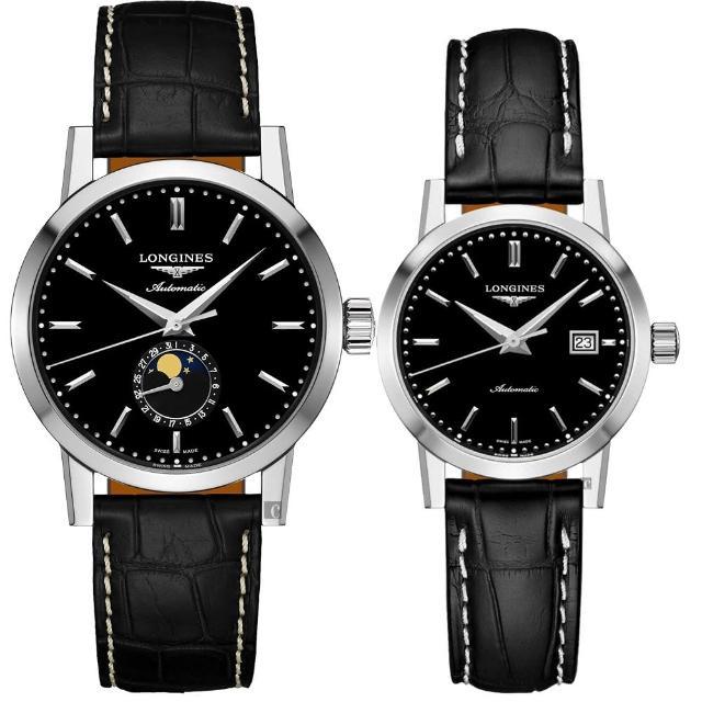 【LONGINES 浪琴】1832 經典機械對錶-40+30mm(L48264520+L43254520)