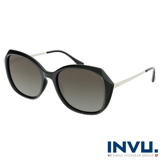 【INVU】瑞士幾何稜角設計偏光太陽眼鏡(黑 B2118A)