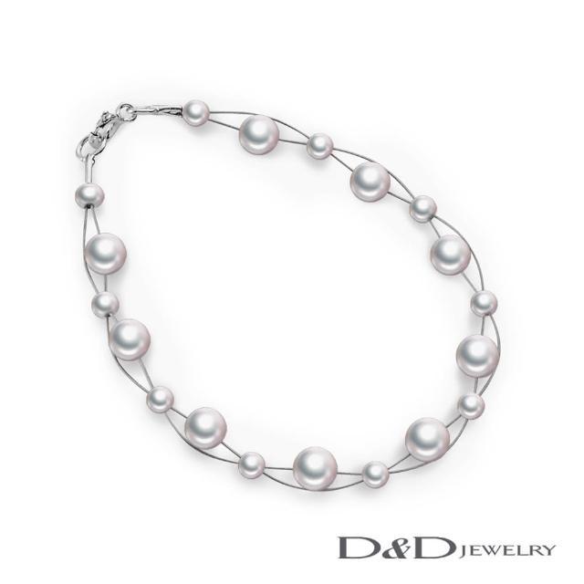 【D&D JEWELRY】天然珍珠手鍊 4.5-5mm(白)