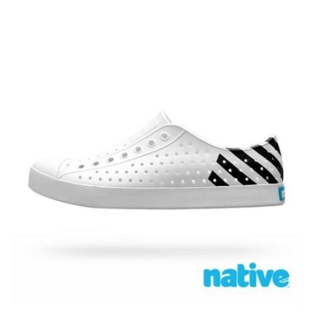【native】男女款白黑色情侶休閒鞋NO.11100102-8741
