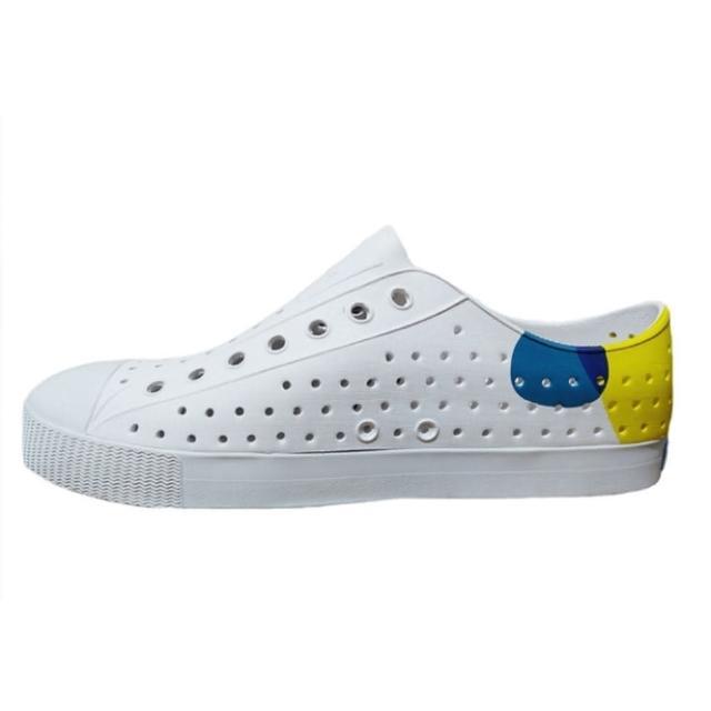 【native】JEFFERSON BLOCK 男女款白黃藍三色休閒洞洞鞋-NO.11100102-8763